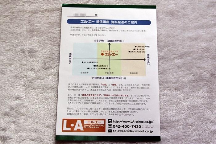 L・A(エルエー)の行政書士通信講座の相関図